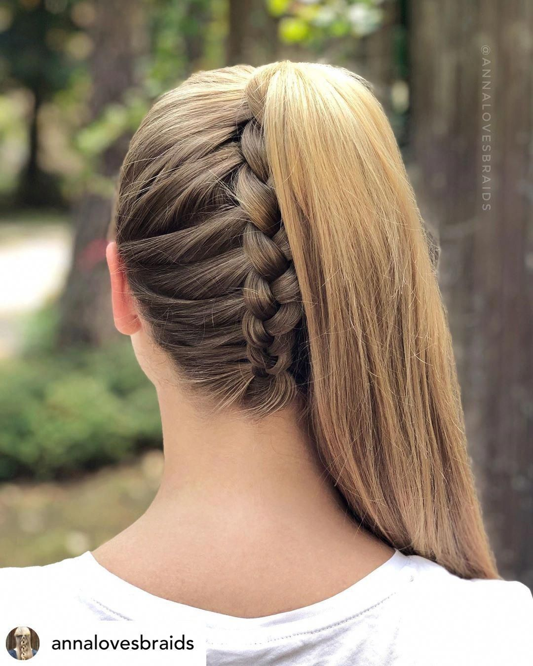 Do You Want The Perfect New Back To School Hairstyle Upside Down Braided P Cute Hairstyles For Teens Medium Length Hair Styles Cute Hairstyles For Medium Hair