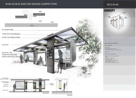 Modern bus stop makai creative structures pinterest modern bus shelters and architecture