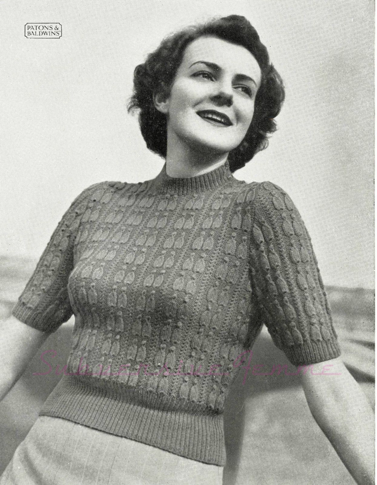The Vintage Pattern Files: Free 19450\'s Knitting Pattern - Pagliacci ...
