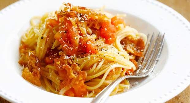 Spaghettis all'amatricianaVoir la recette >>