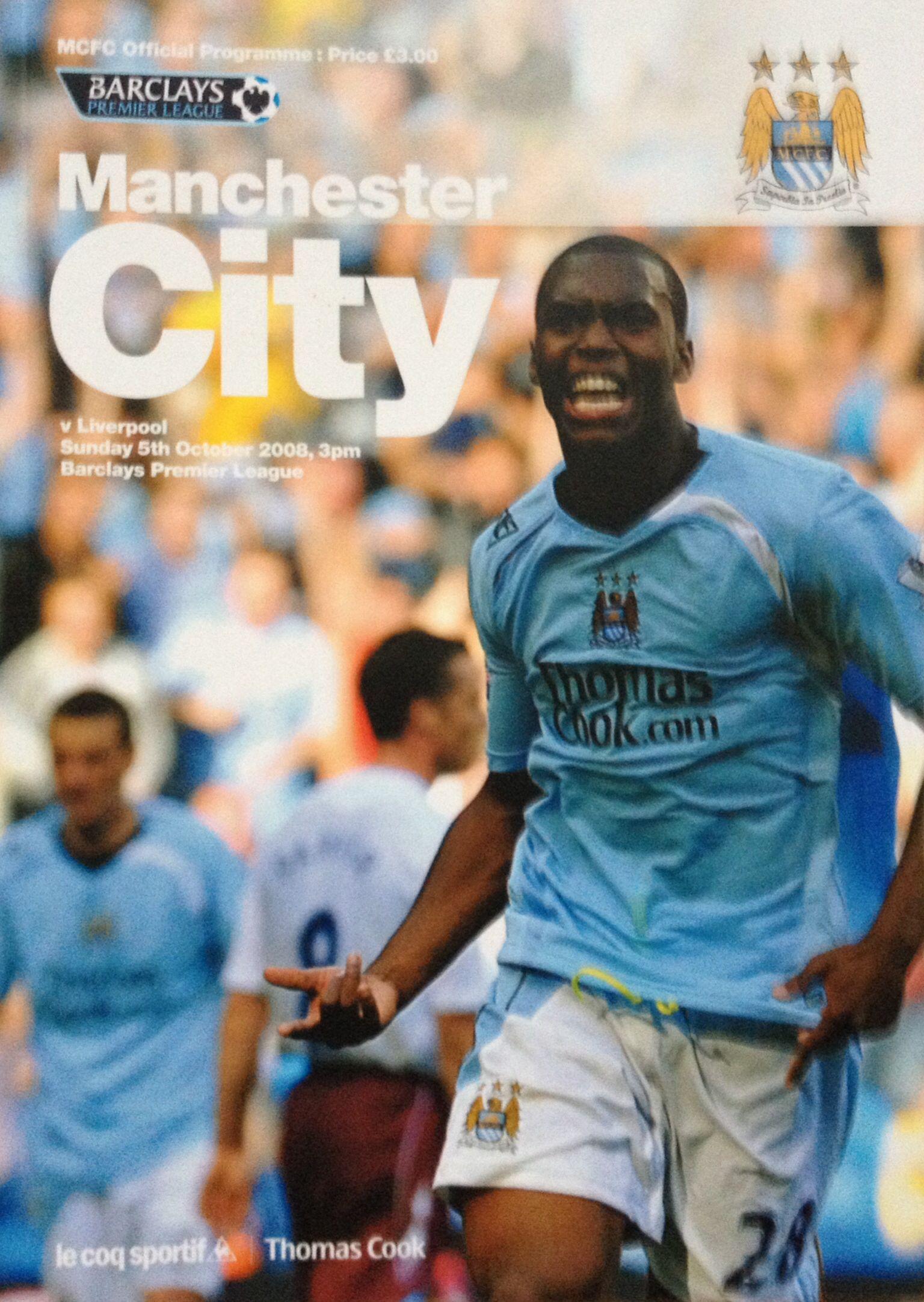 5/10/2008 Manchester City v Liverpool Liverpool