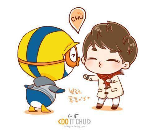 Do Kyungsoo + Pororo = Dororo :)) fanart ~~ lol .. cute