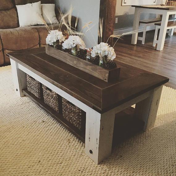DIY Farmhouse Coffee Table Plans   Woodworking Plans, DIY ...