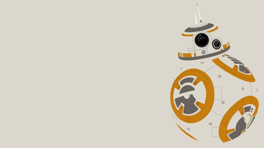 Bb 8 Minimalist Wallpaper Star Wars Geek Star Wars Bb8 Star Wars Wallpaper