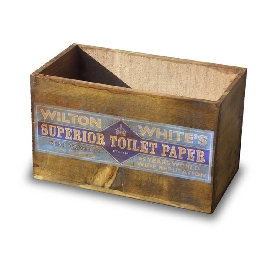 Uncategorized Wooden Toilet Paper Storage vintage wooden toilet paper storage crate or box box