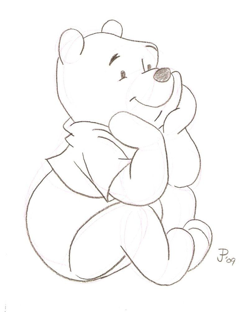 Uncategorized Winnie The Pooh Drawings how to draw winnie the pooh step by drawing tutorial with sketch mickeyminnie