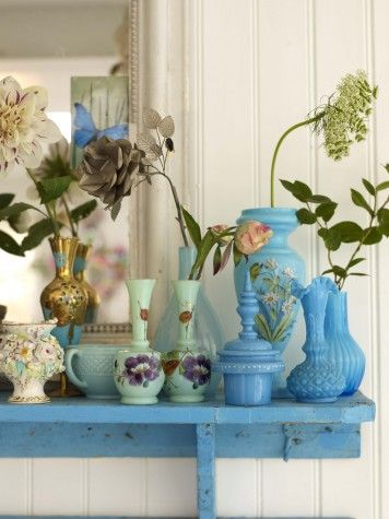I have a thing for turquoise vases