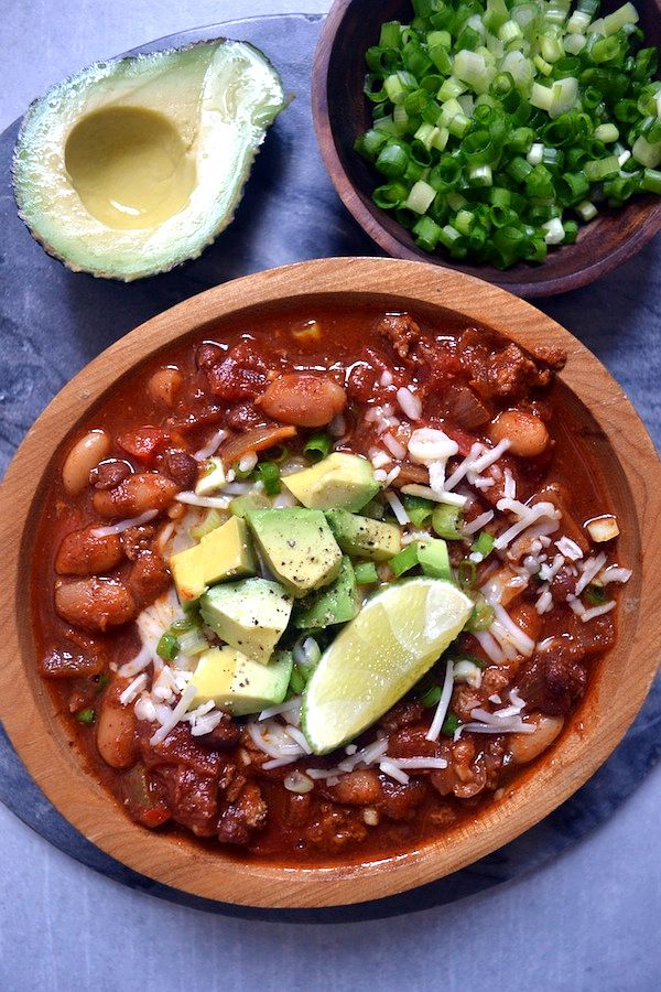 Sage Recipes | My Favorite Slow Cooker Beef Chili | http://www.sagerecipes.com
