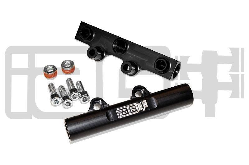 IAG V2 Top Feed Fuel Rails Black Subaru WRX 02-14/STI 07-16/Legacy GT 07-12/Forester XT 06-13