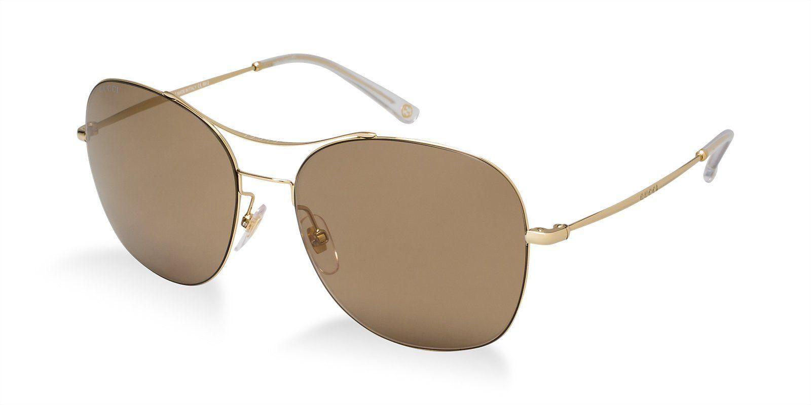 Amazon.com: GUCCI GG4253/S Sunglasses Gold w/Brown Mirror (0J5G ...