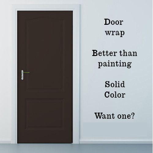 Brown Vinyl Door Wrap Refrigerator Wrap Cabinets Wrap And More Vinyl Doors Door Wraps Refrigerator Wraps