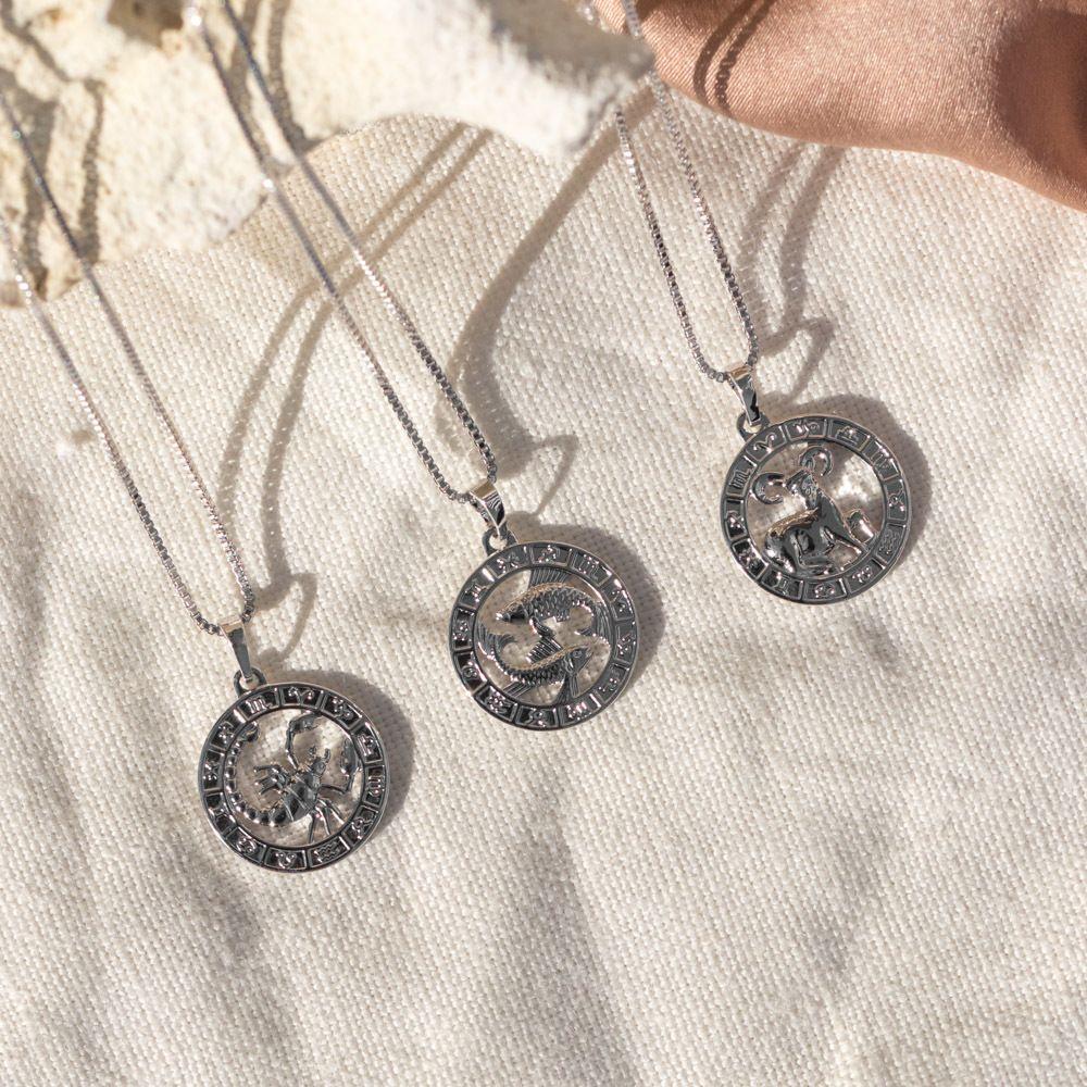Zodiac pendant necklace silver zodiac pinterest zodiac