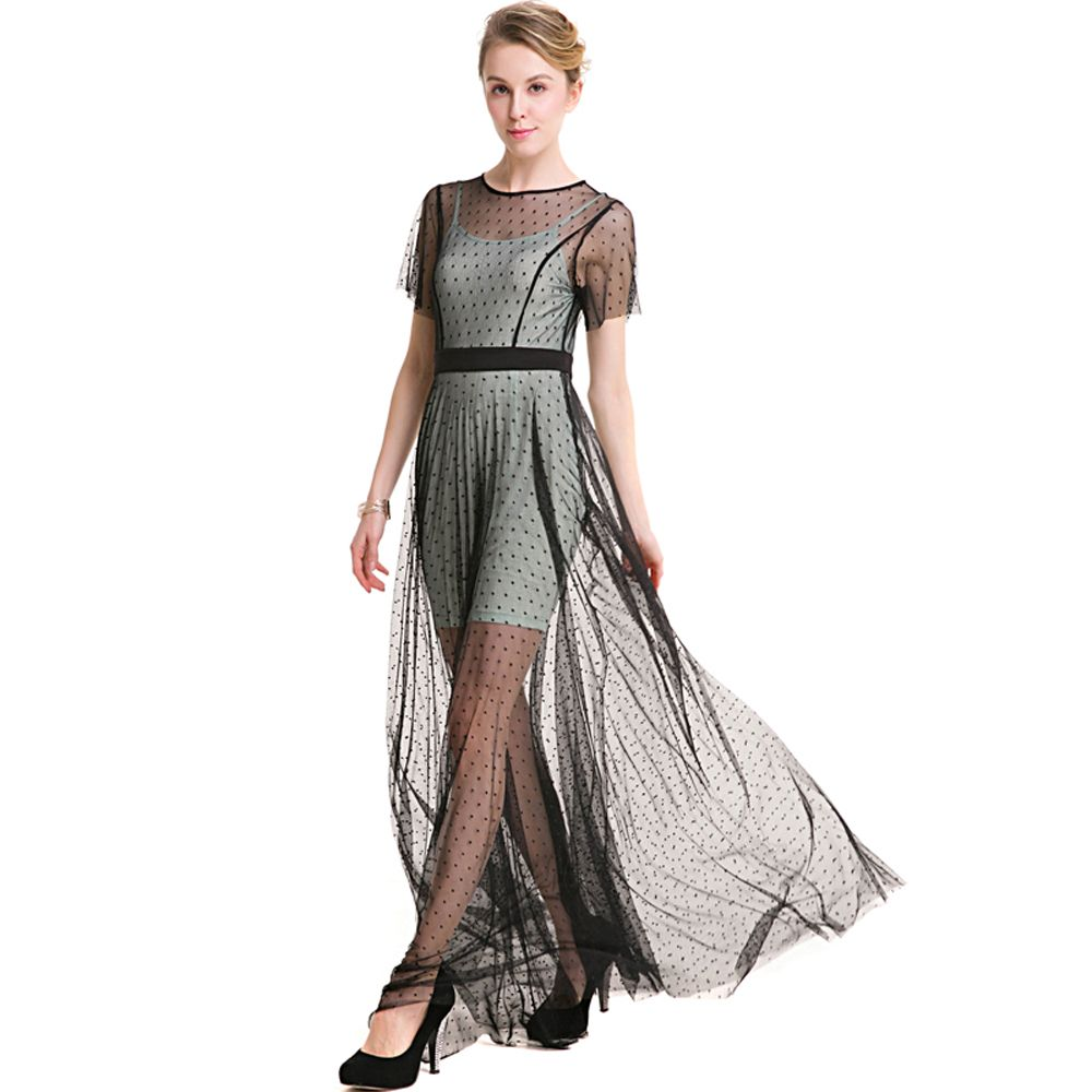 New good quality elegant a line dress xl big size gowns lace ice