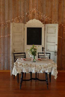 Vintage Screen Doors Used As Backdrop Wedding Reception Bride