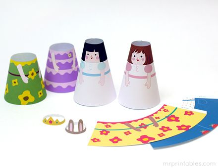 Printable Paper Dolls Cone Girls Mr Printables Paper Dolls Free Printable Paper Dolls Paper Dolls Printable