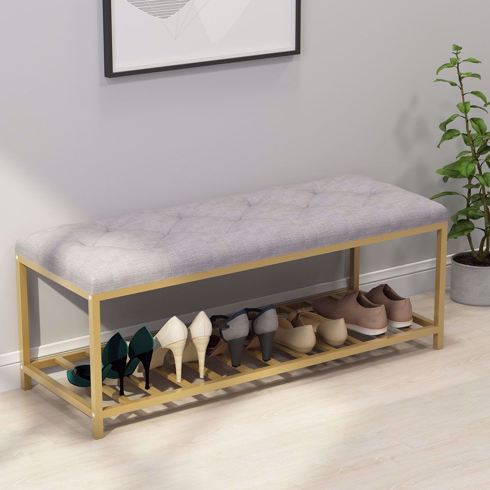 Tribesigns Modern Shoe Rack Bench With Storage Shelf Great Choice For Apartment Foyer Doorway Modern Shoe Rack Upholstered Storage Upholstered Storage Bench