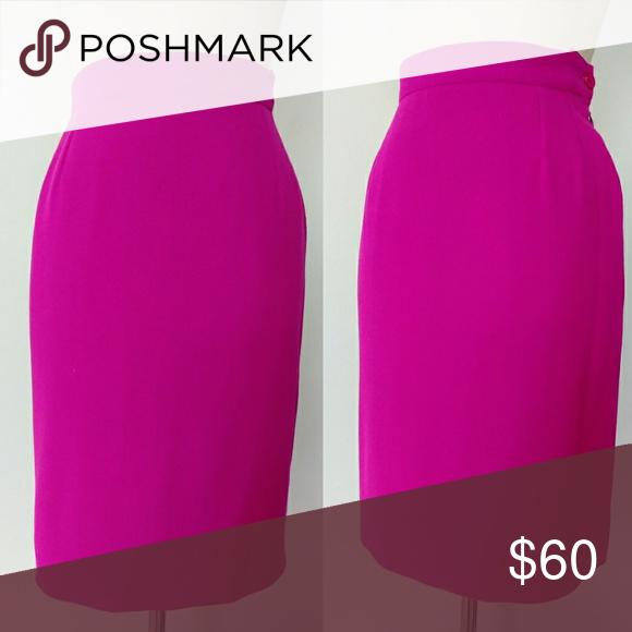 974fd1239 VTG YSL Yves Saint Laurent Hot Pink Pencil Skirt Yves Saint Laurent -  designer label!