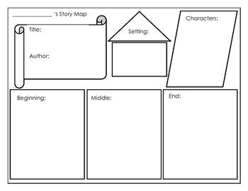 Story map for primary grades education reading for Story outline template for kids