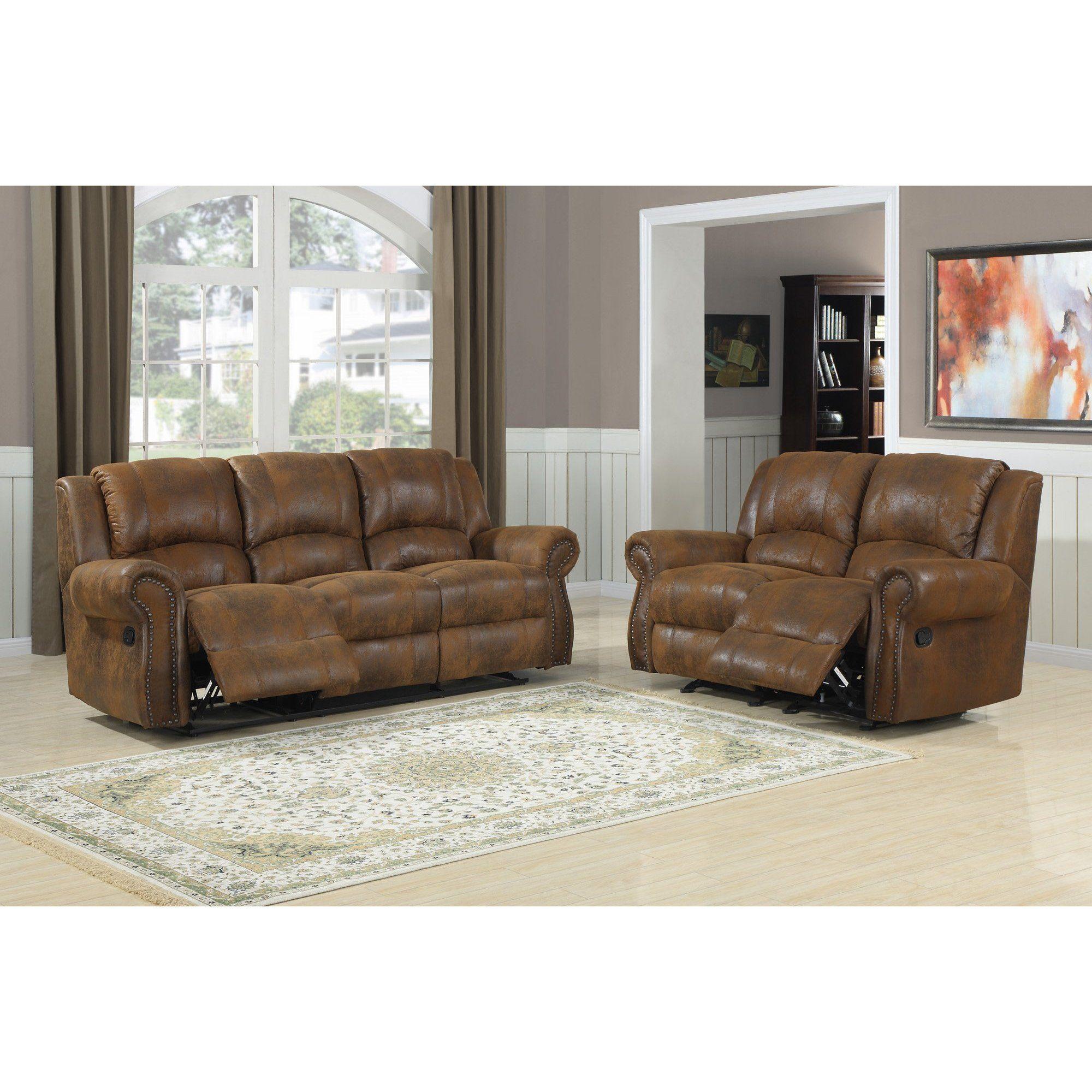 FurnitureMaxx Quinn Double Reclining Sofa , Bomber Jacket ...