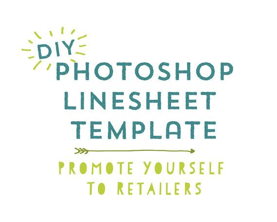 DIY Photoshop Line Sheet Template - Promote Your Business to ...
