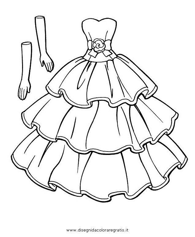 Disegno Vestiti Cerca Con Google Disegni Da Colorare Barbie