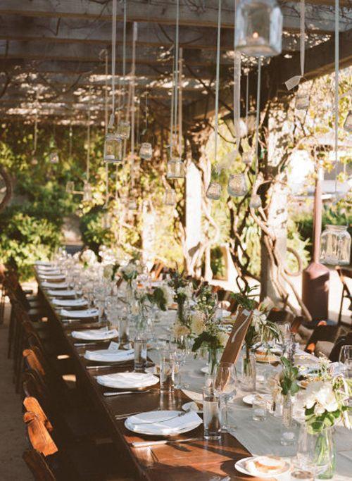 Mesas sin mantel para boda campestre for Decoracion boda campestre