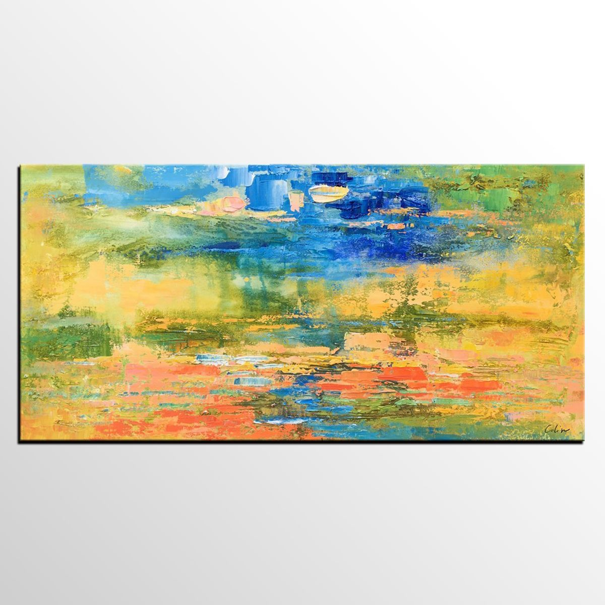 Original Painting, Abstract Art, Abstract Landscape Painting ...
