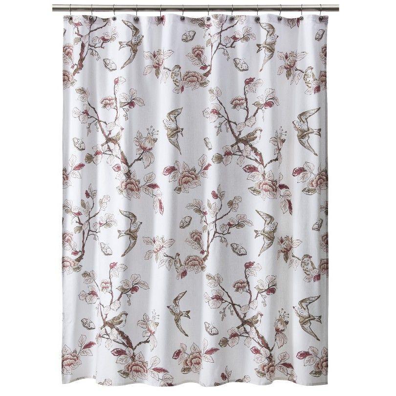 Threshold Shower Curtain Bird Pink Bird Shower Curtain