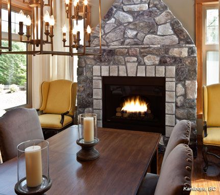 Dining room fireplace bucks county dressed fieldstone for Dining room with fireplace
