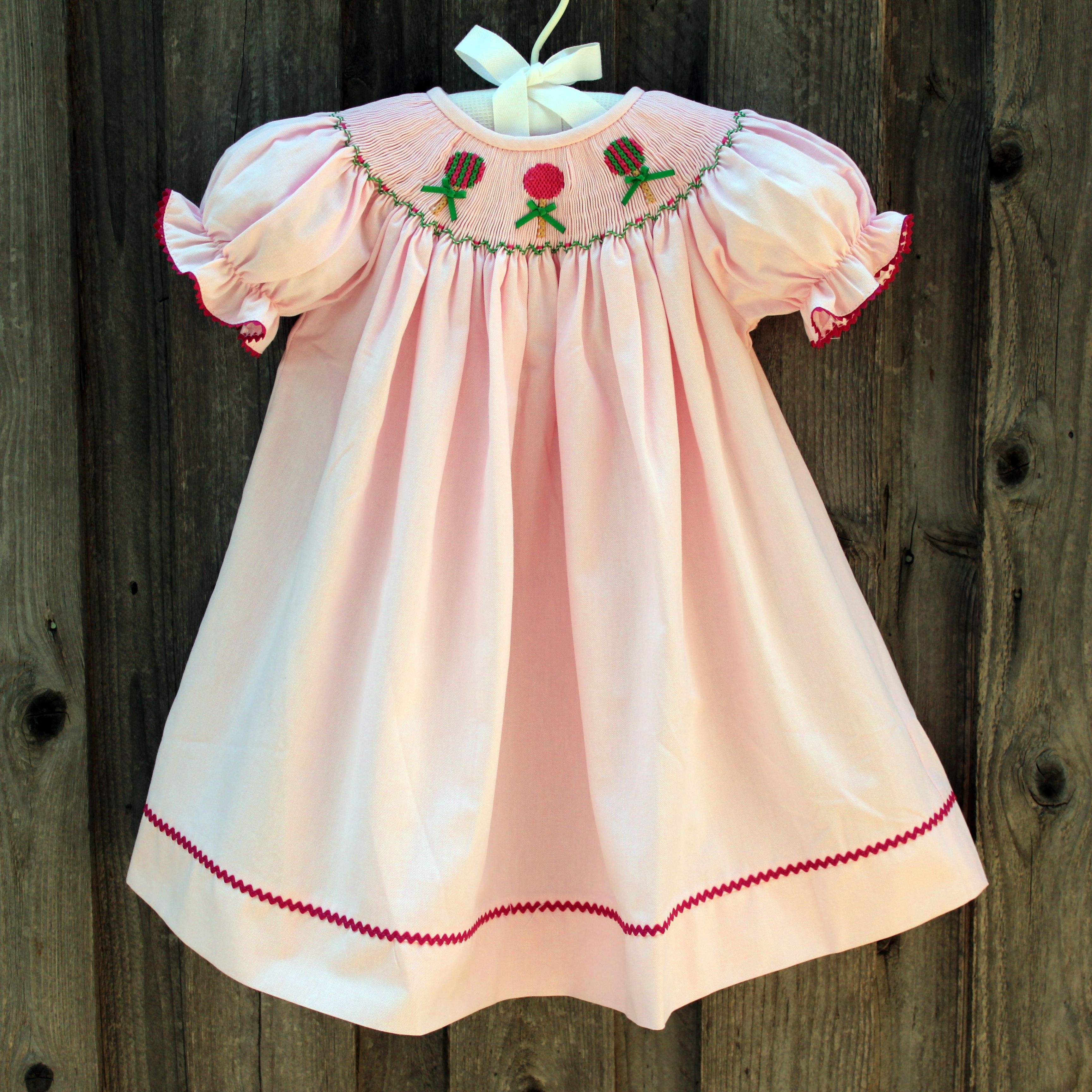Smocked Sweets Bishop Dress from Smocked Auctions
