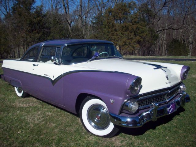1955 Ford Crown Victoria Beautifully Restored - Lavender and Vanilla