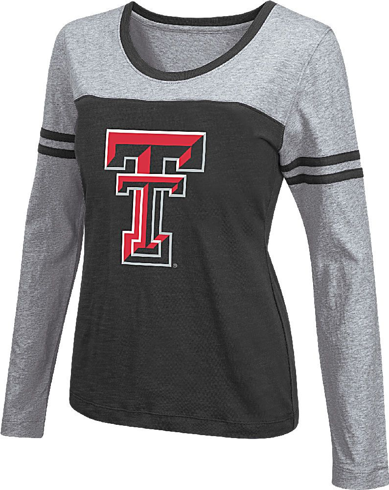 Women S Texas Tech Red Raiders Black Leap Scoop Neck Long Sleeve Tee Shirt Texas Tech Red Raiders Long Sleeve Tee Shirts Texas Tech [ 1000 x 795 Pixel ]