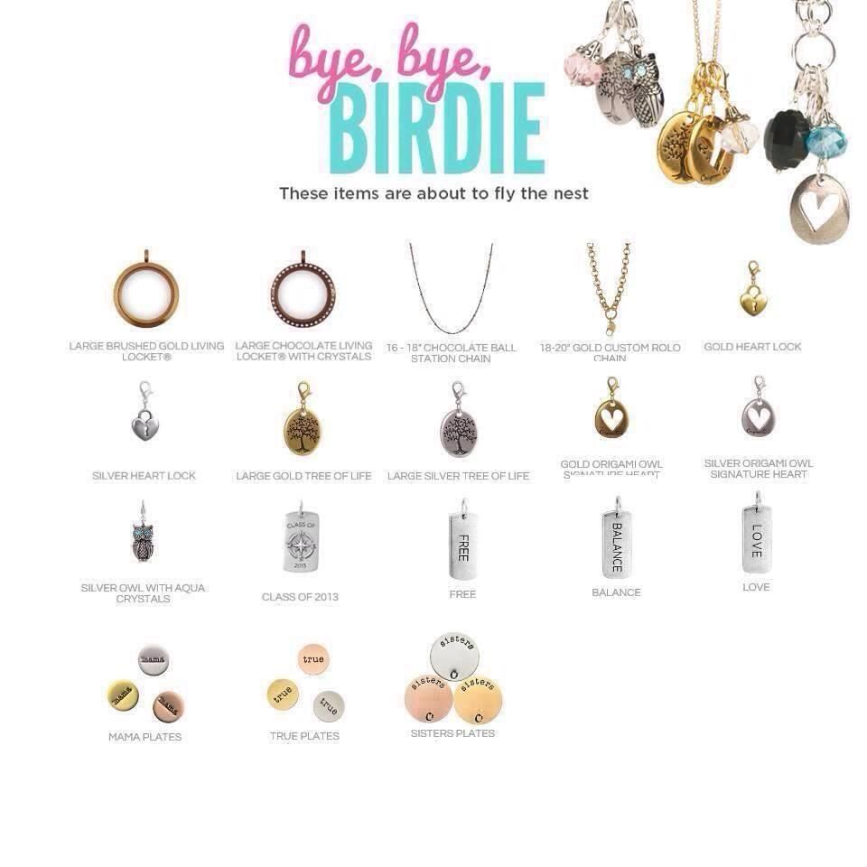 Origami Owl's retiring items 2014 page 1 of 2