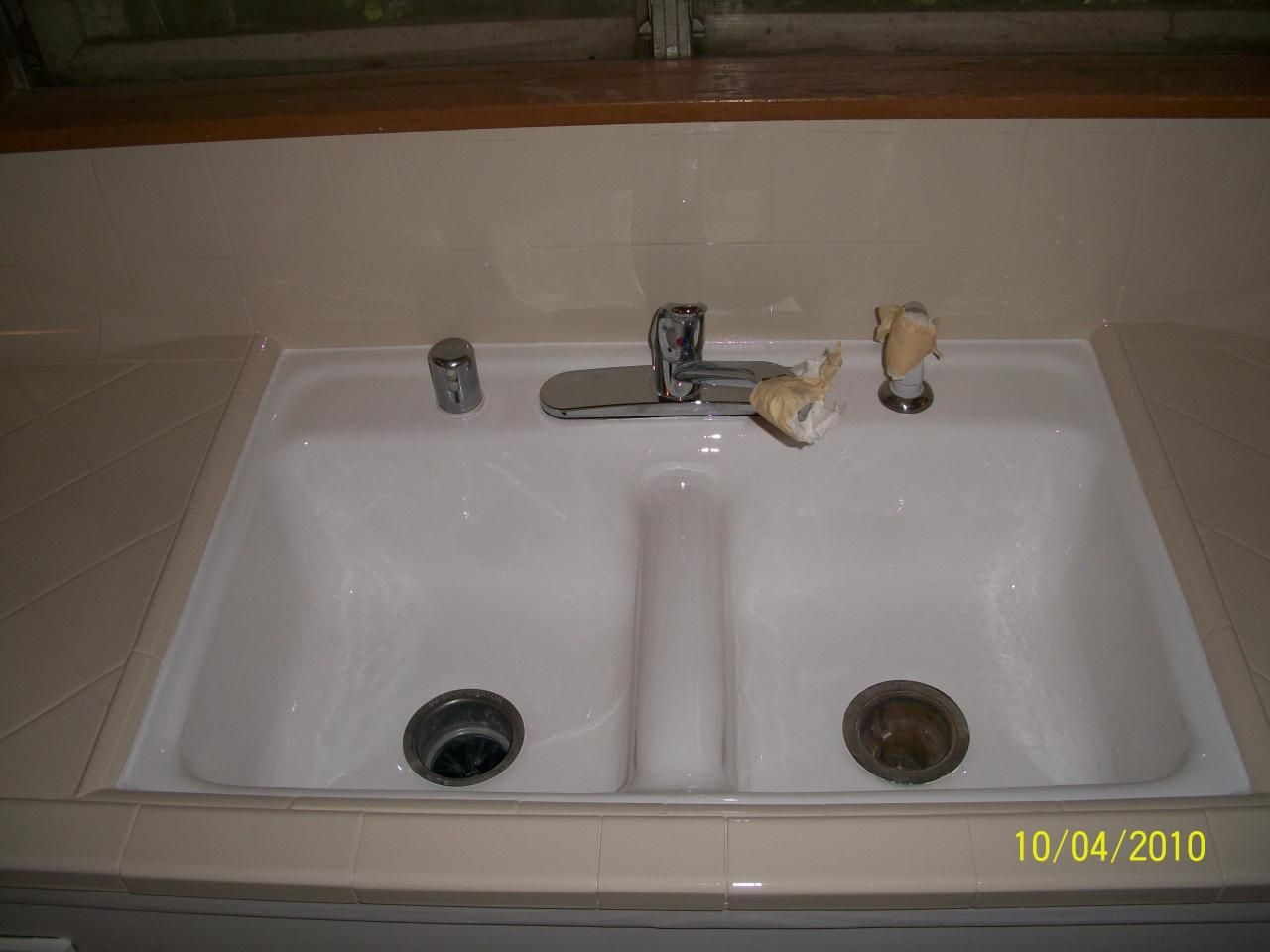 PKB Reglazing Dirty Kitchen Sink u0026