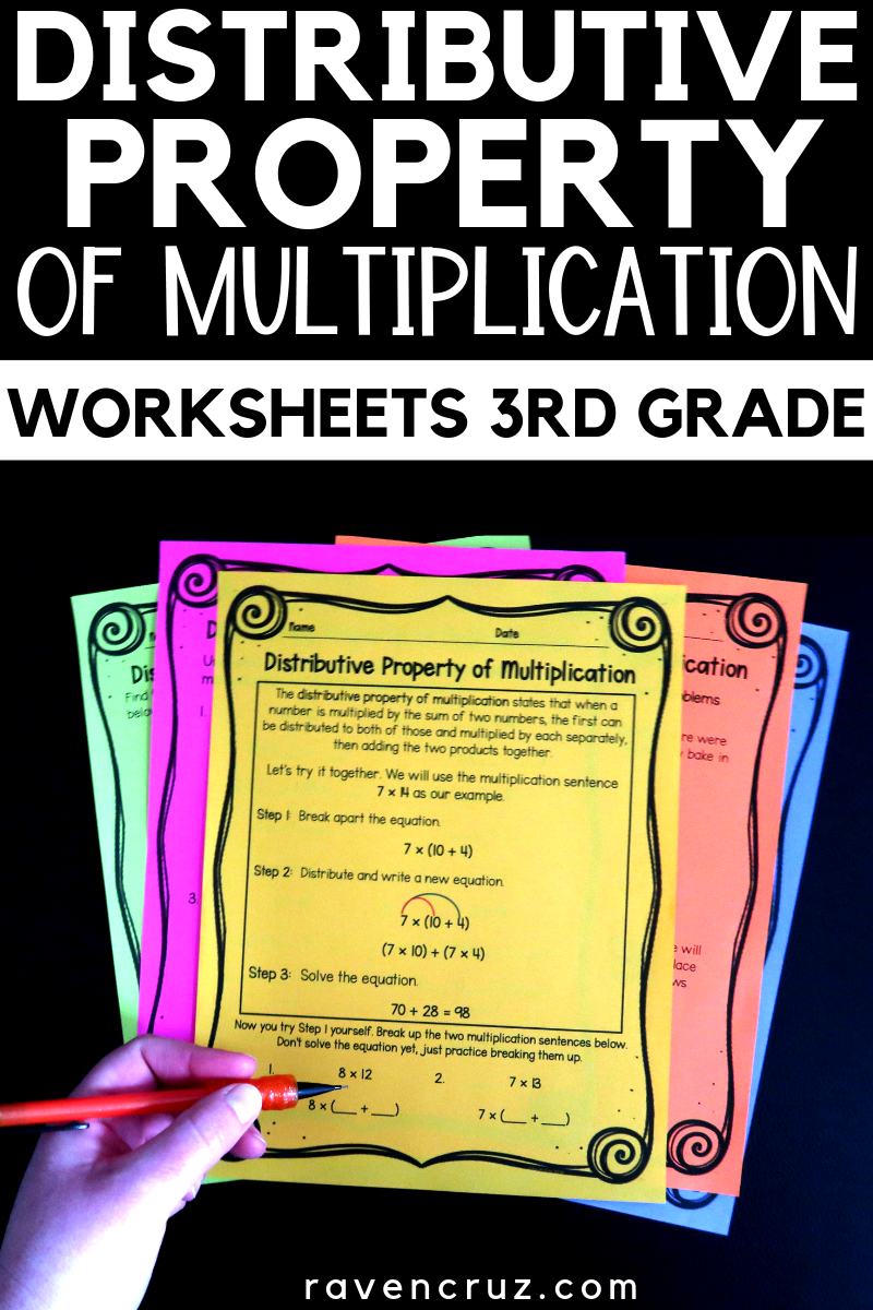 medium resolution of Distributive property worksheets for third-grade math. 3rd grade math  multiplication and mult…   3rd grade math