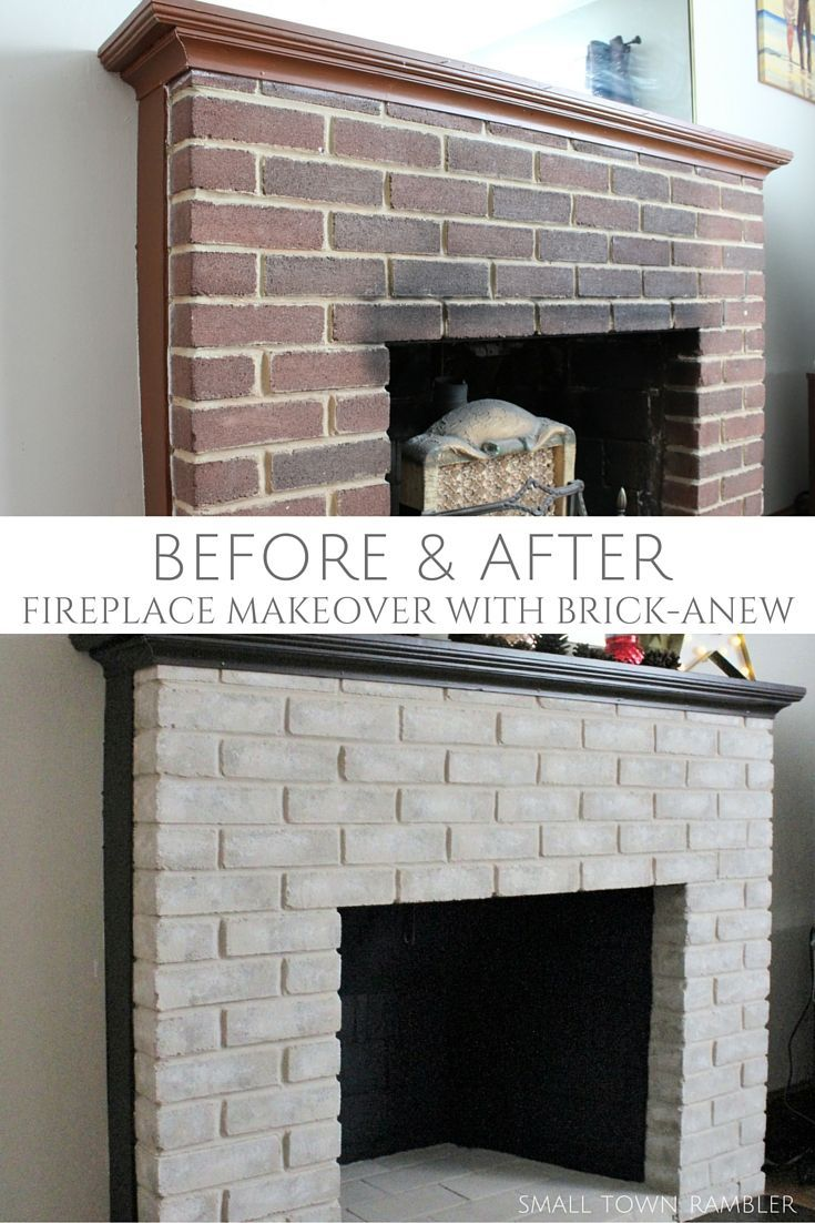 Fireplace Makeover: Painting the Firebox and Mantel | Bricks ...