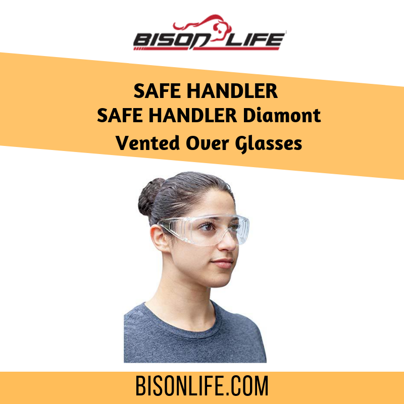 SAFE HANDLER Diamont Vented Over Glasses, clear, 12 pairs