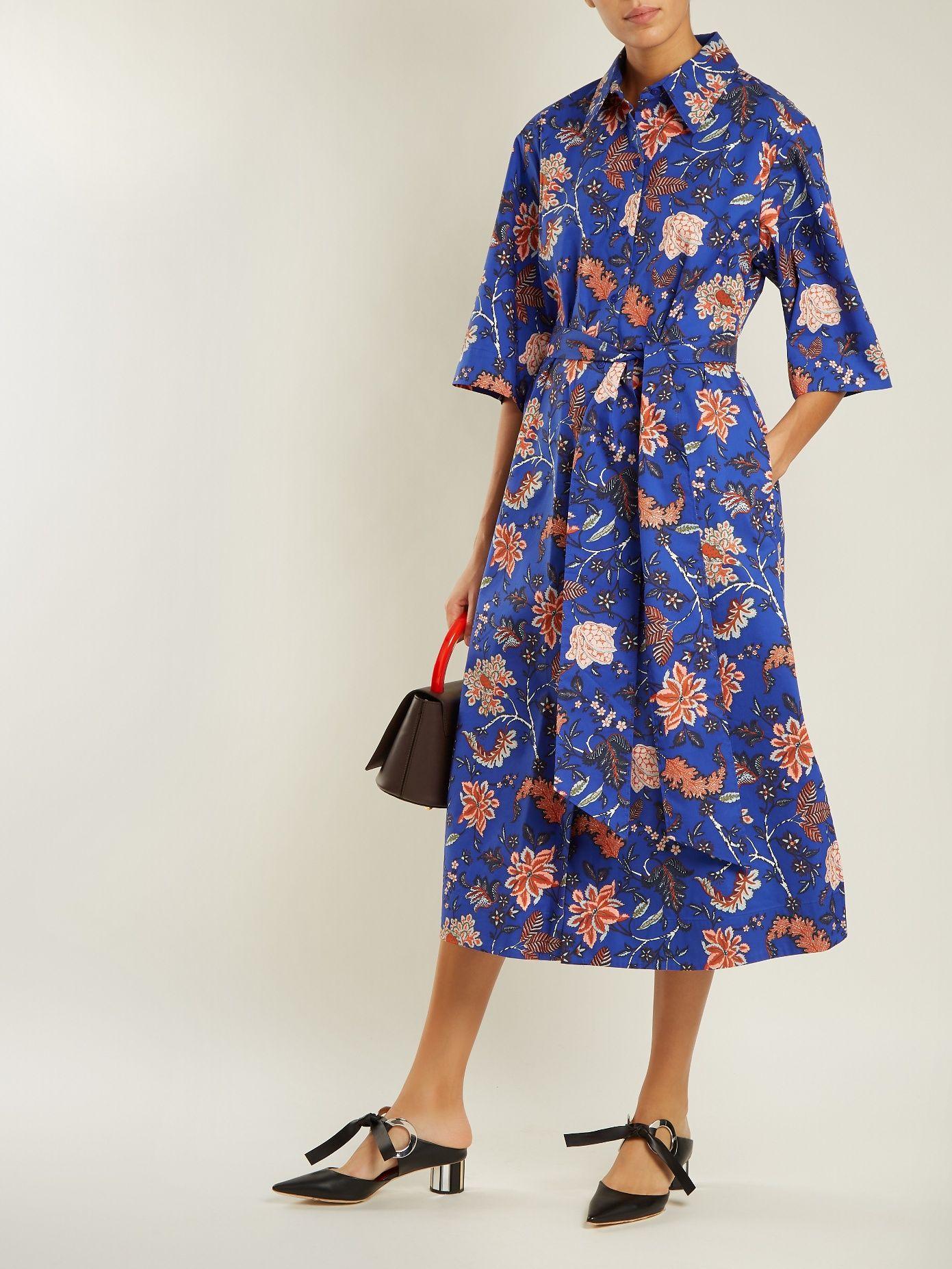 23d4007dfd04f6 Click here to buy Diane Von Furstenberg Canton-print stretch-cotton dress  at MATCHESFASHION.COM