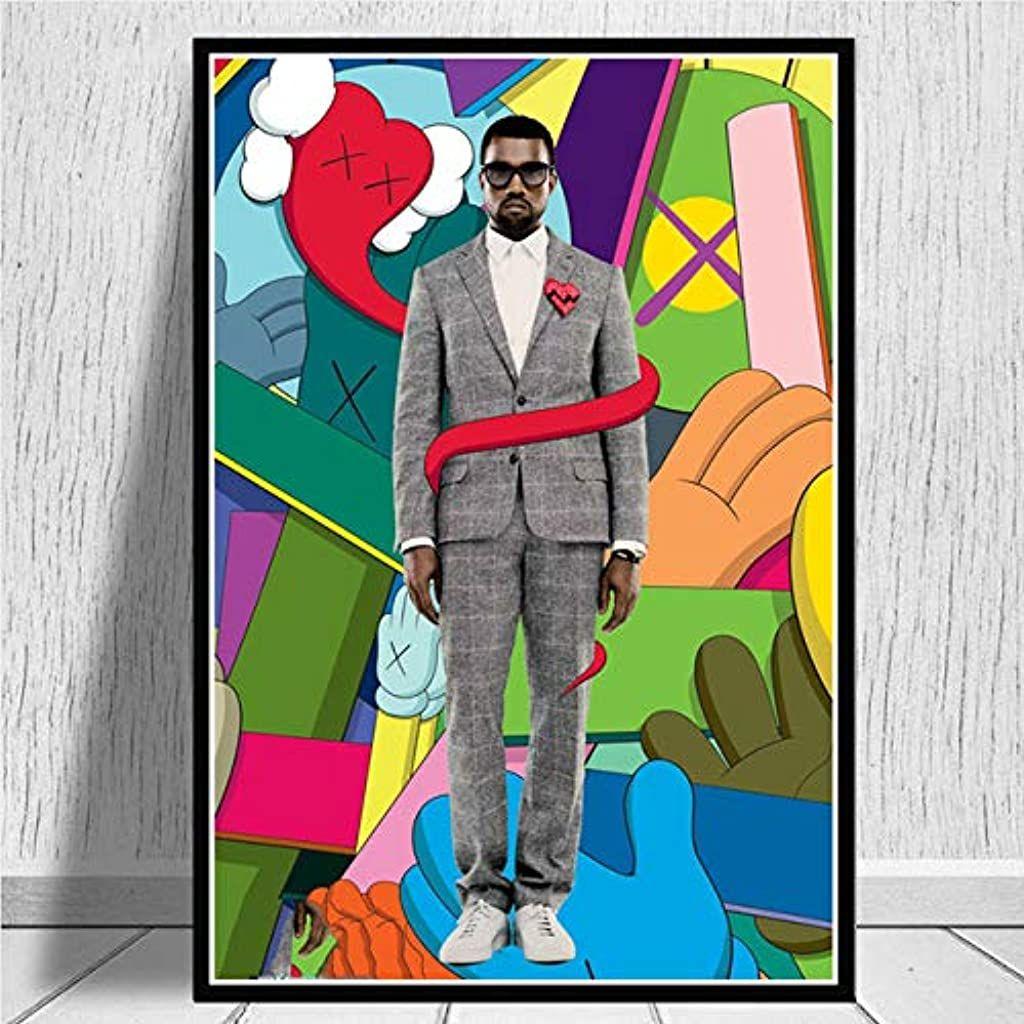 Kanye West 808s Heartbreak Canvas Print Poster In 2020 Poster Prints Animal Print Wallpaper Canvas Prints