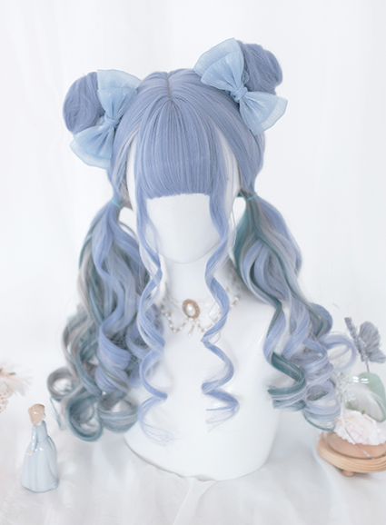 Photo of Blueberry mixed color wig YC21993