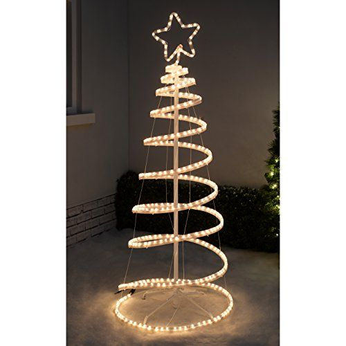 Werchristmas 5ft 150 cm flashing 3d spiral christmas tree rope light werchristmas 5ft 150 cm flashing 3d spiral christmas tree rope light silhouette white aloadofball Image collections