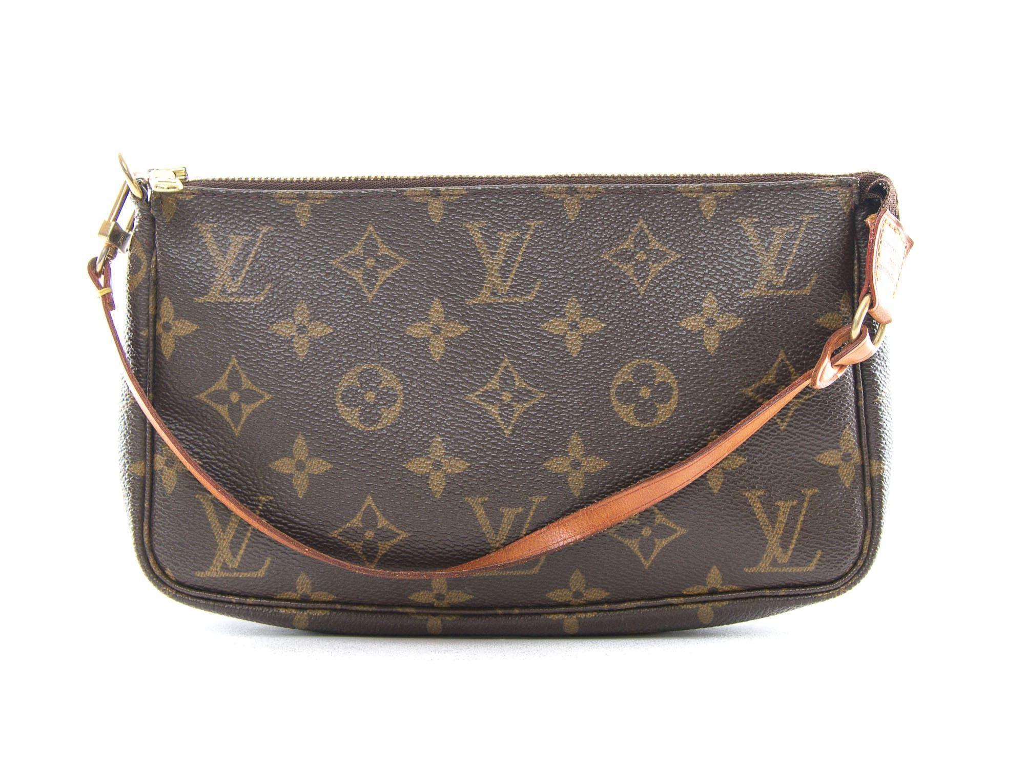 Authentic Louis Vuitton Monogram Pochette Accessoires Pouch M51980 Louis Vuitton Louis Vuitton Handbags Vintage Purse
