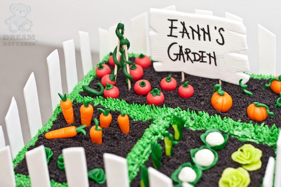 veggie garden signs | Vegetable Garden Cake. Gainesville ...