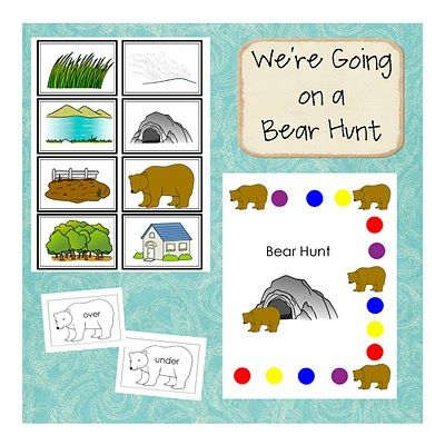 free printable bear hunt activities!...We\'re going on a bear hunt! I ...