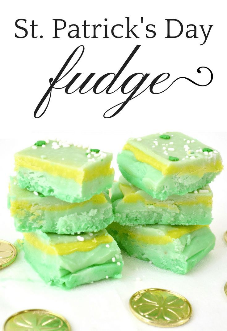 Sweet and creamy homemade fudge with green food coloring is the ...