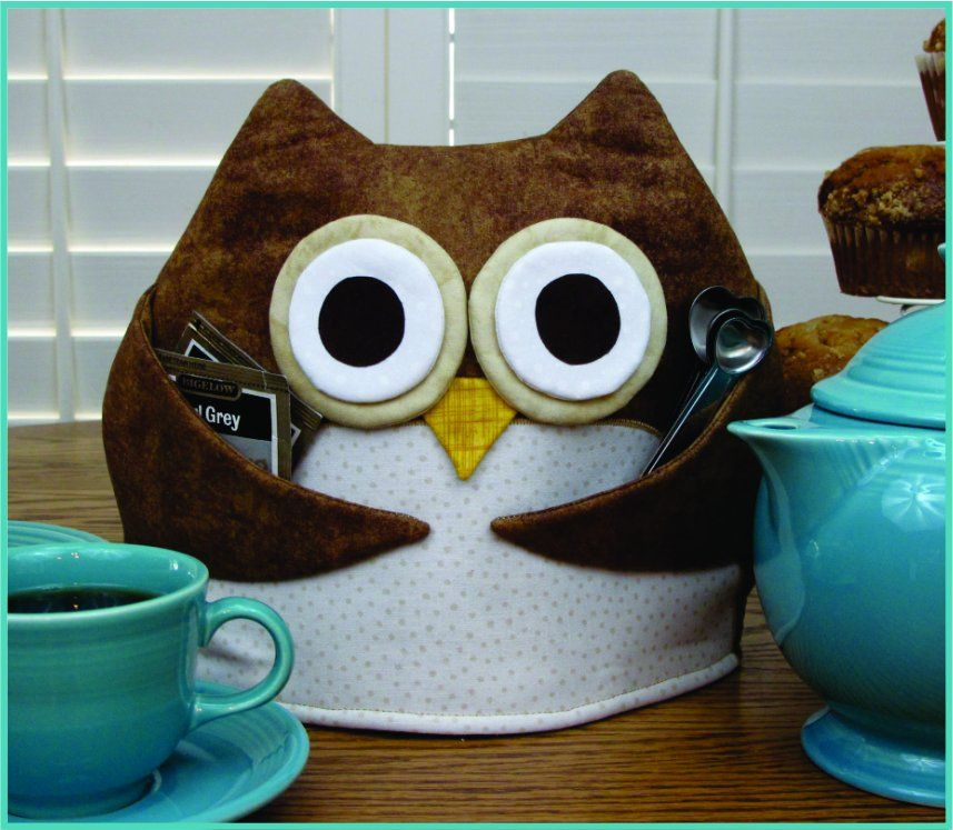 To make a perfect cup of tea you'll need a Cute Tea Cozy!  Includes full-sized pattern pieces and step-by-step instructions to make this fun and functional over-sized Owl Tea Cozy...