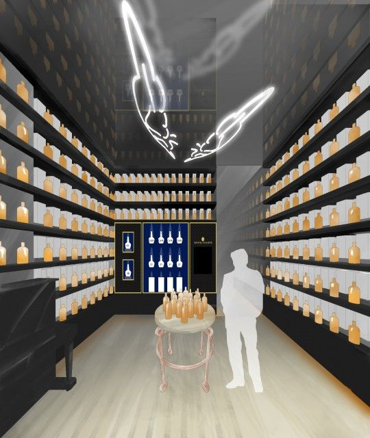 Basic One Point Perspective Of Interior The Whisky Shop London Whisky Shop Organic Design Retail Design
