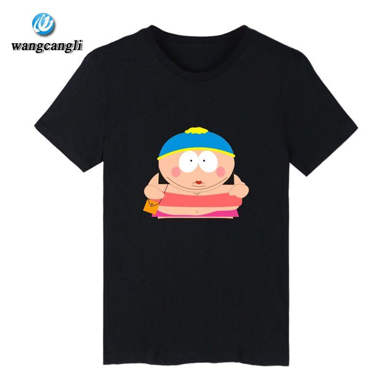 4370eb1493d Cartoon Sitcoms South Park Cotton T-shirt Men Slim Fit Short Sleeve TShirts  with T Shirt Men Luxury in Plus Size Tee Shirt Long
