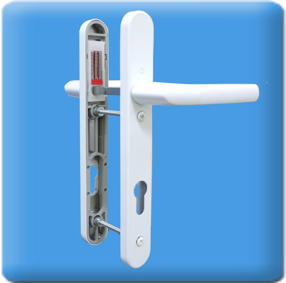 Upvc Door Handles 92mm Centres 122mm Screws Lever Lever In White Birmingham Handles Short Screw Centres Upvc Door Handles Door Handles Handle