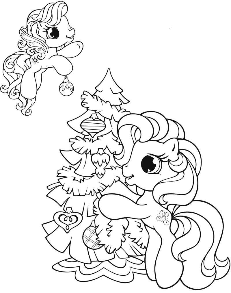 Coloring Page For Kids My Little Pony Coloring Christmas Coloring Pages Free Christmas Coloring Pages